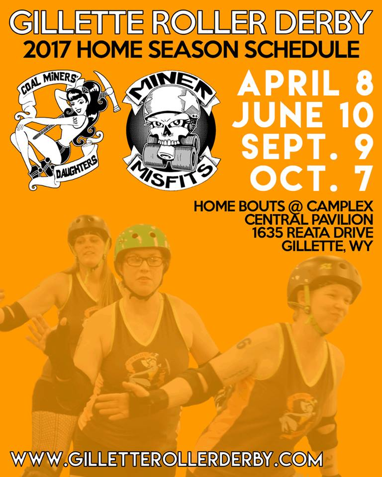 Gillette Roller Derby 2017 Schedule
